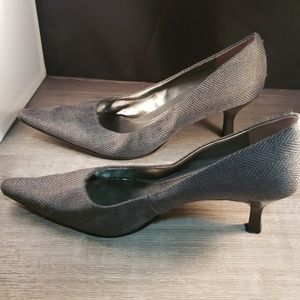 Grey Pointed Heels
